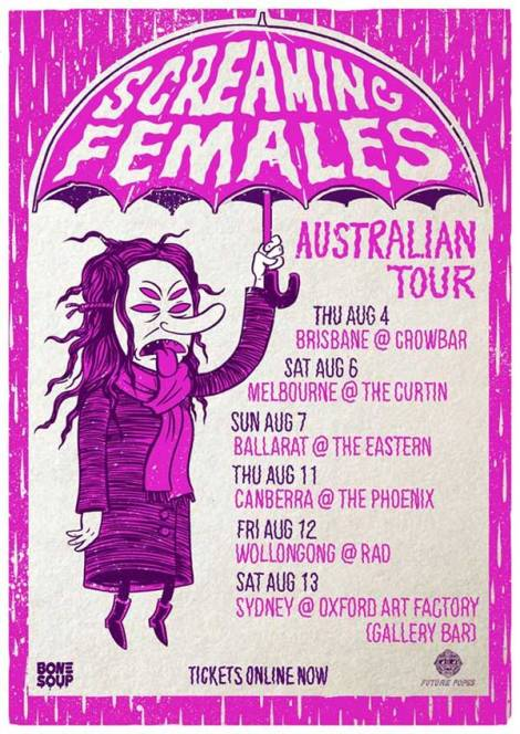 Screaming Females Australian Tour 2016