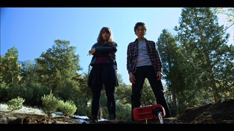 Milo Cawthorne and Olivia Tennet in Blood Punch