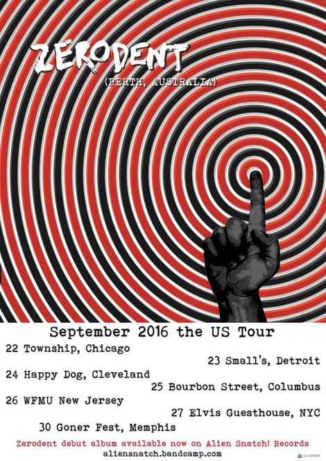 Zerodent US Tour 2016 poster