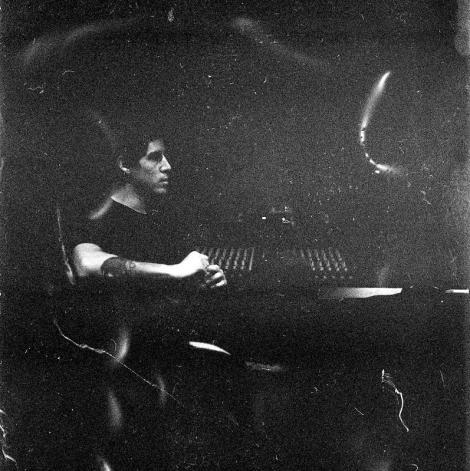 Chris Brownbill at the desk, Underground Audio (Tom Fennah)