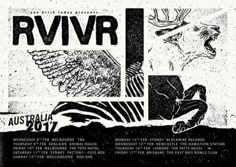 RVIVR Australian tour February 2017 Tour Poster