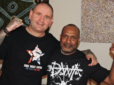 Jody Bartolo of DWA with Benny Wenda