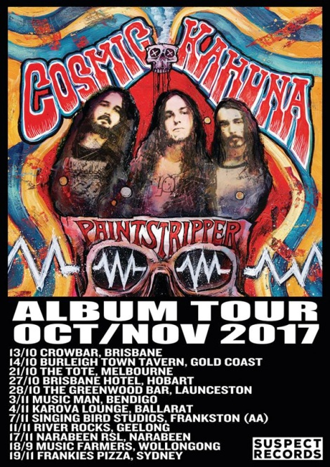 Cosmic Kahuna Paintstripper tour poster